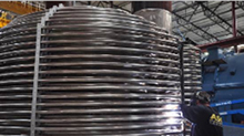 Gas fired autoclave heating coil