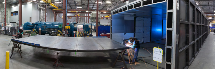 large Composites Oven being fabricated by ASC